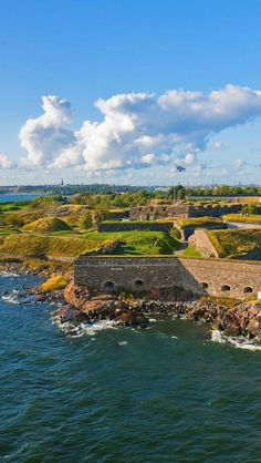 Suomenlinna Sea Fortress in Helsinki Finland. My dad was stationed here briefly in the early Finland Trip, Finland Travel, Helsinki Things To Do, Places To Travel, Places To See, Visit Helsinki, Baltic Cruise, Excursion, Day Trip
