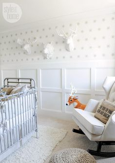 Nursery design: Grey iron crib {PHOTO: Tracey Ayton}l Baby Bedroom, Nursery Room, Boy Room, Kids Bedroom, Nursery Decor, Room Baby, Project Nursery, Girl Nursery, Kids Rooms