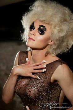 Tammie Brown by Dusti Cunningham Tammie Brown, Fembois, Lip Sync, Rupaul Drag, Pretty Boys, Halloween Face Makeup, Lips, Racing, Glamour