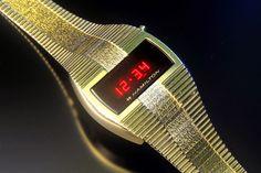 Hamilton QED II (Dress) Nerd Chic, The Last Laugh, Retro Watches, Wristwatches, Digital Alarm Clock, Digital Watch, Calculator, Clocks, Hamilton
