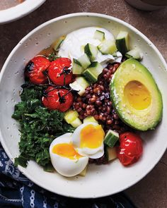 Barley takes longer than oatmeal to cook, so make a big batch on Sunday for quick reheating during the week. The hearty nature of this barley dish, which channels the flavors of a Turkish breakfast, makes it an equally filling option for any meal of the day.