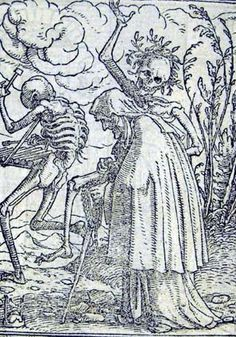 Danse Macabre Holbein - is this Holbein? Not sure.
