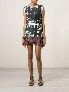 Isabel Marant Pleated Asymmetric Skirt - Luisa World - Farfetch.com
