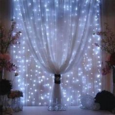 AGPtEK® 3Mx3M 300LED String Light Curtain Light for Christmas Xmas Wedding Party Home Decoration - White