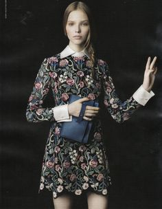 love this dress for fall! Valentino, Vogue, September 2013.