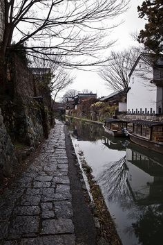 Oumihachiman, Shiga, Japan - looks like the old waterways in Kyoto.