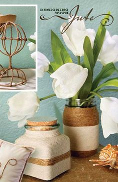 GET INSPIRED BY THE NATURAL TEXTURES AND ORGANIC COLORS OF OUR VERSATILE JUTE AND BLEACHED TWINE.