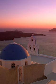 Pink Santorini Sunset, Greece