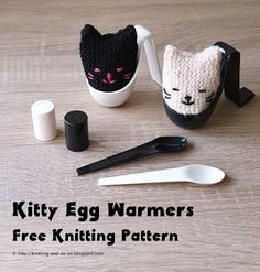 Kitty Egg Warmer - free knitting pattern by Knitting and so on