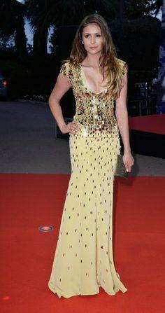 Nina Dobrev wearing Jenny Packham - World Music Awards 2014 - Red Carpet Looks!!