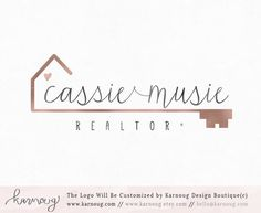 Realtor Logo Real Estate Logo Key Logo House Logo Premade Logo Watermark Logo Business Logo Branding Logo Custom Logo Logos and Watermarks