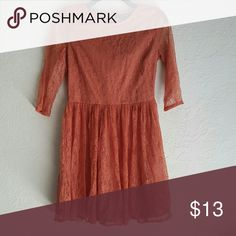 F21 Lace 3/4 Sleeve Dress Wore a few times, loved the color but felt a little too big for me. It is still in great conditions. Offers and questions are welcomed! Forever 21 Dresses Mini