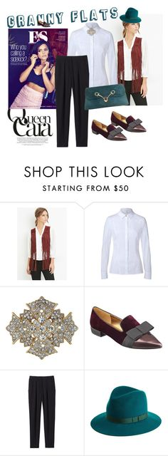"""""""Granny flats"""" by sherrlie ❤ liked on Polyvore featuring Forever 21, Coleman, ESCADA, Kenneth Jay Lane, Nine West, Rebecca Taylor, rag & bone, Gucci, women's clothing and women's fashion"""