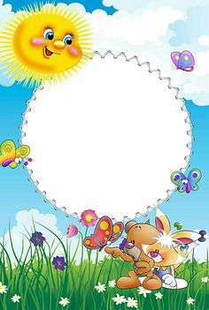 Happy Birthday Frame, Birthday Frames, Flowery Wallpaper, Flower Phone Wallpaper, Preschool Crafts, Crafts For Kids, Diy And Crafts, Molduras Vintage, Disney Frames