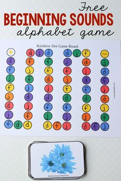 This free letters and sounds game is awesome. Choose the letters and sounds you want to practice, print the cards, and label the game board. Love that you can differentiate!