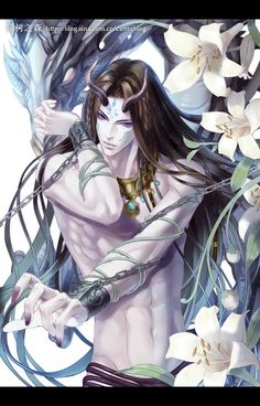 Fantasy, Beautiful and dreams : Photo Fantasy Art Men, Anime Fantasy, Fantasy Artwork, Manga Sexy, Manga Anime, Anime Art, Male Character, Character Design, Ange Demon