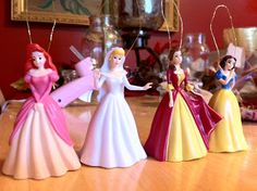 make princess ornaments with little cheap toys disney very merry christmas christmas trees for kids - Disney Princess Outdoor Christmas Decorations