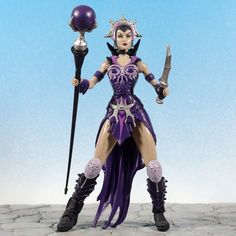 """Masters of The Universe He-Man MOTU 200X EVIL-LYN 6"""" Action Figure complete #Mattel"""