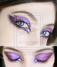 make-up purple by ~Dead-Rose-16