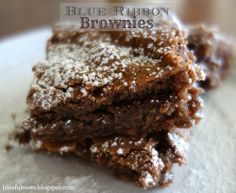 Blue Ribbon Brownies from Blissful Roots