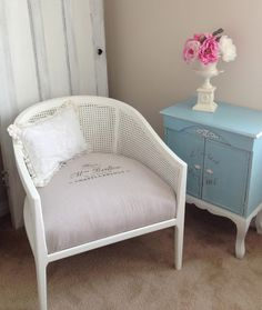 Ramshackle Romance - designs by Deborah N. Smith: Barrel of Fun - Barrel Chair Makeover