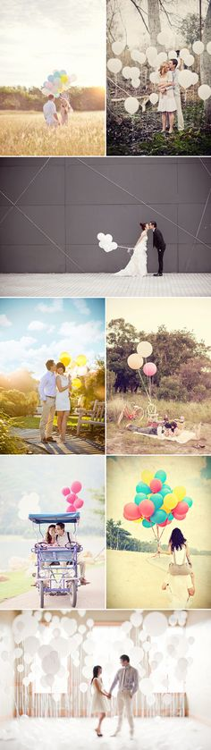 Love is in the air ! Adorable Balloon Photo Ideas - Praise Wedding