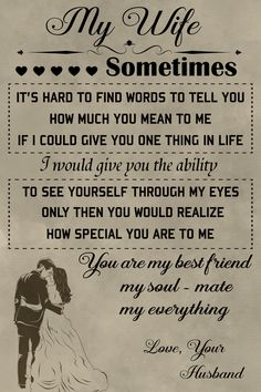Family Poster - To my Wife quotes for wife Family Poster - To my Wife Beautiful Wife Quotes, Love My Wife Quotes, Father Daughter Quotes, Soulmate Love Quotes, I Love My Wife, Father Quotes, Romantic Love Quotes, Family Quotes, Husband To Wife Quotes