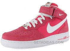 http://www.getadidas.com/nike-air-force-1-mid-white-pink-sports-shoes-online.html NIKE AIR FORCE 1 MID WHITE/PINK SPORTS SHOES ONLINE Only $54.18 , Free Shipping!