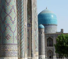 Los reflejos azules de Samarkanda I: El Registán Conquistador, Taj Mahal, Building, Places, People, Travel, Hu Ge, Blue Highlights, Blue Nails
