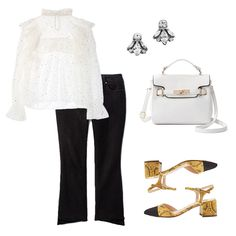 Ladylike-Cool - For an ultra-girly touch, ruffles and polka dots are fun and fresh. Embellished stud earrings, a sleek top-handle bag and colorful heels provide a hip finish.