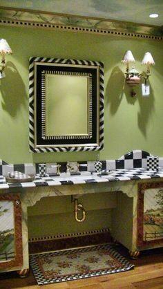 MacKenzie Child's bathroom @Holly Hill Morse