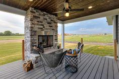 #bellahomesiowa #outdoorliving #fireplace