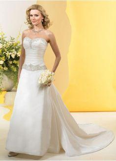 $168.49 : Sweetheart Taffeta A-Line Wedding Gown With Sash