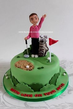 Golf themed cake - Cake by Zoe's Fancy Cakes