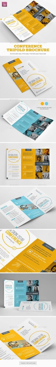 Conference Trifold Brochure - Corporate Brochures Download here : https://graphicriver.net/item/conference-trifold-brochure/19479374?s_rank=16&ref=Al-fatih