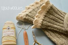 Take one pair of Big Woolies & add a crocheted top for a great pair of Boot Toppers.  What a clever idea!