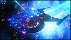 Fall Of Icarus by Kurumi-Morishita on DeviantArt Uss Discovery, Cool Laser, Starfleet Academy, Star Trek 2009, United Federation Of Planets, Star Trek Images, Spaceship Art, Sci Fi Shows, Star Trek Starships