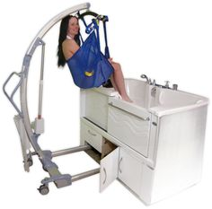 Aquassure is designed for ease of use for wheelchair users who can do a seat-to-seat transfer, or for those who require more assistance with a wheeled lift. (866) 404-8827