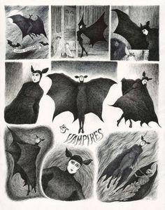 Vampires by Edward Gorey Art And Illustration, Illustrations, Vampire Illustration, Vampires, Inspiration Artistique, Creatures Of The Night, Diabolik, Halloween Art, Art Design