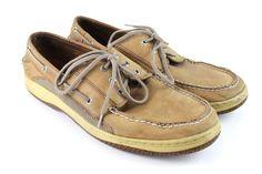 Sperry Top-Sider Billfish dark tan leather boat shoes mens sz 13 #SperryTopSider #BoatShoes