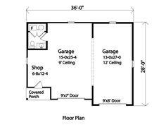 Garage Plan 45144 Level One