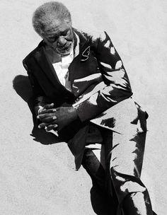 Morgan Freeman by Photographer Francesco Carrozzini / #Photography #Portrait