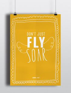 Inspirational Disney Quote Poster Download Printable - Don't Just Fly, Soar - Nursery / Classroom Decor on Etsy, $4.00