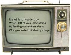 The Truth about television plain and simple....so true!