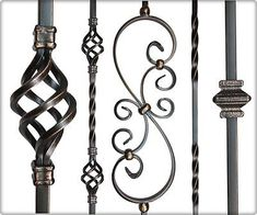 Iron Balusters Iron Spindles Metal Stair Parts Hollow Oil Rubbed Copper Iron Stair Balusters, Metal Spindles, Iron Staircase, Wrought Iron Stairs, Staircase Railings, Wood Handrail, Banisters, Staircases, Stair Railing Design