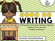 Hello friends!  If youre anything like me, you are constantly trying to improve your writing station.  Searching for new ideas, scrambling to get things prepped and ready, wishing you had just one more thing to keep your kids excited about writing and engaged in the process.