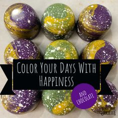 Color your days with happiness and chocolate Chocolate Pictures, Brown Sugar, Easter Eggs, Etsy Seller, Happiness, Day, Creative, Color, Colour