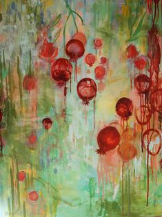 Pomegranate Abstraction by annie flynn