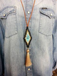 evi eye, handmade jewels, necklace, necklaces, boho, tassels, tassel, pearlybow