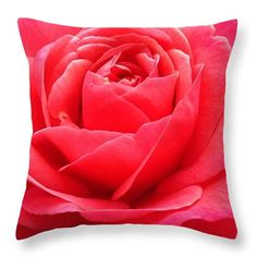 "Hearts Desire Red Rose 16"" x 16"" Throw Pillow by Anna Porter.  Multiple sizes available."